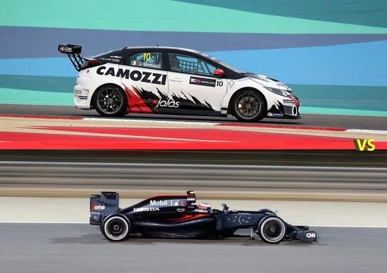Honda Civic TCR vs McLaren Honda F1, la sfida impossibile a Sakhir