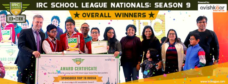 IRC School League Season-9 Overall Winners