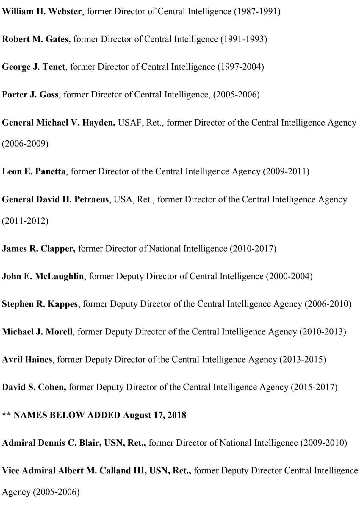 Over 70 Former Intelligence Officers Denounce Trump S