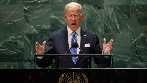 """Biden claims """"era of relentless war"""" is over in first UN speech"""