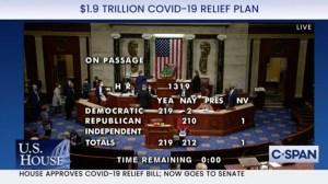 House passes $ 1.9 trillion COVID aid package