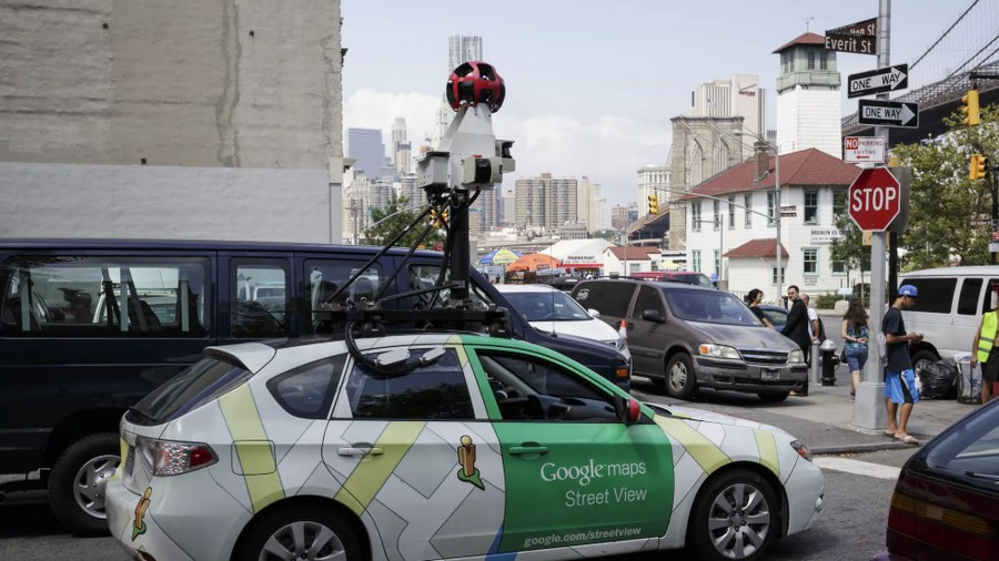 Using AI to mine Google Street View   Axios A Google Maps Street View car  Photo  James Leynse Corbis via Getty images