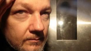 Julian Assange leaving a London court in May 2019.
