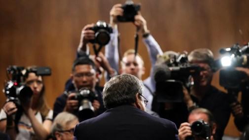 Bill Barr testifying