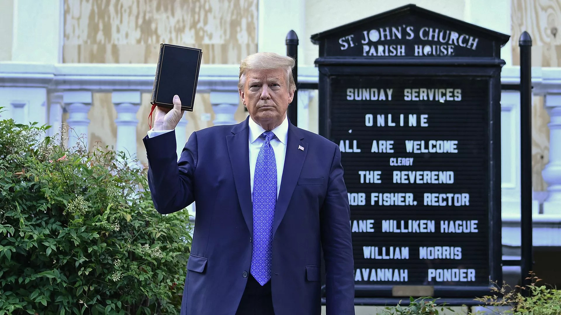 St. John's clergy: Trump used church as prop, Bible as symbol of division -  Axios