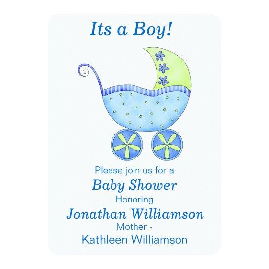 Buggy Carriage Its A Boy Baby Shower