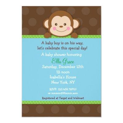 Monkey Baby Shower Theme