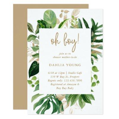 Modern Tropical Baby Shower Invitations