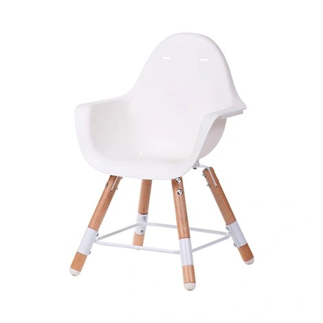 chaise haute evolu 2 naturel blanc