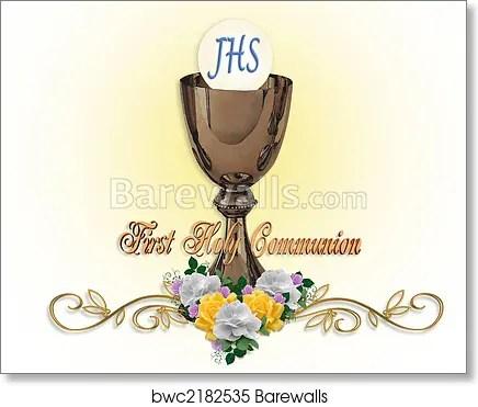 holy communion invitation background art print poster
