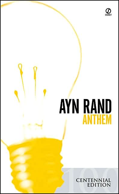 Image result for ayn rand anthem book cover