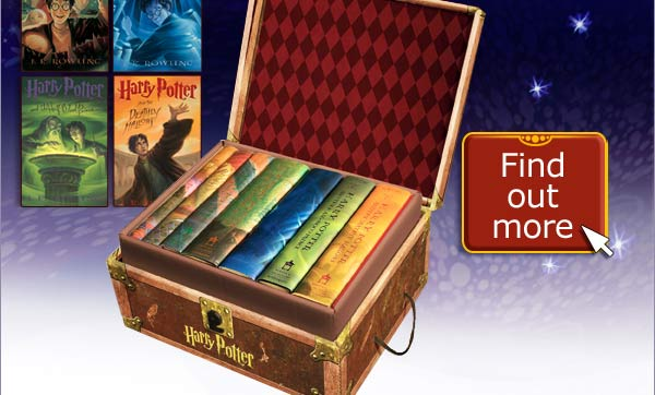 Book Cover Image. Titles: Harry Potter and the Goblet of Fire; Harry Potter and the Order of the Phoenix, Harry Potter and the Half-Blood Prince, Harry Potter and the Deathly Hallows, Author: J.K. Rowling. Collector's Box with all seven books. Find out More.