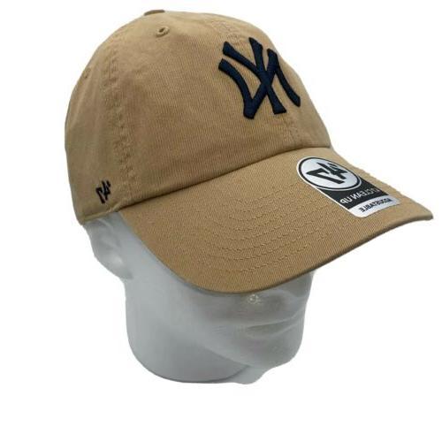 47 Brand New York Yankees Khaki Cleanup Adjustable