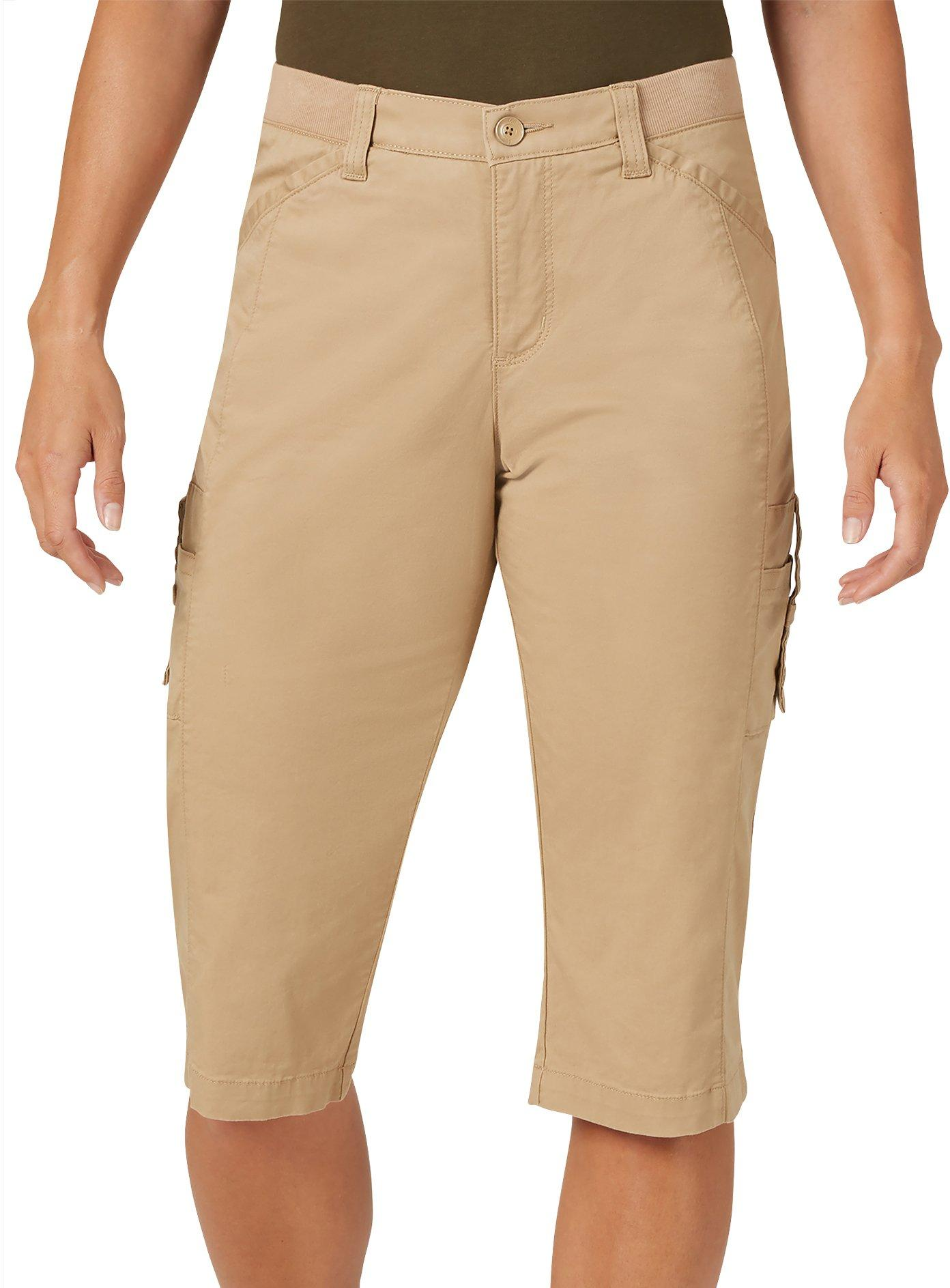 lee womens flex to go relaxed fit cargo skimmer capris