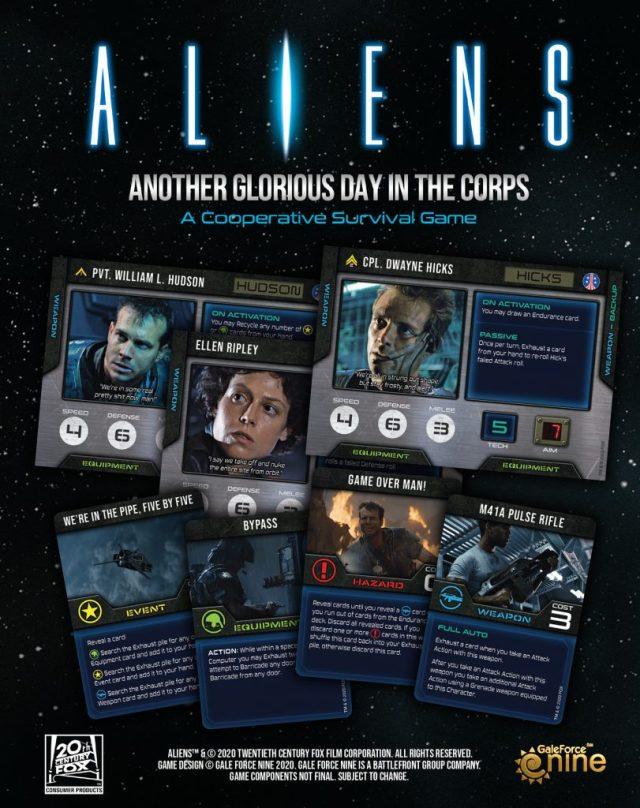Éventail de cartes Aliens - Gale Force Nine