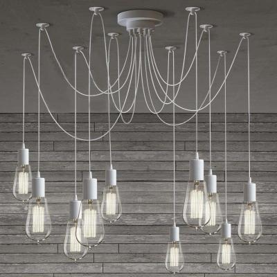 Gracefully White 10 Light Style Multi Pendant Swag Lighting