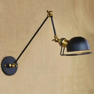 Industrial Classic Bedroom Wall Lamp Reading Light In Black Beautifulhalo Com