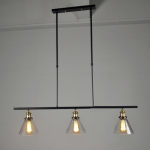 Industrial 3 Light Rustic Ceiling Light Black Billiard Island     Industrial 3 Light Rustic Ceiling Light Black Billiard Island Pendant