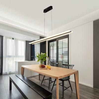 Modern Led Linear Pendants Acrylic Chandelier Lighting 36w