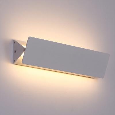 adjustable head modern wall light white finish rectangular led indirect wall light 5w 15w aluminum decorative swivel sconces 3 size available