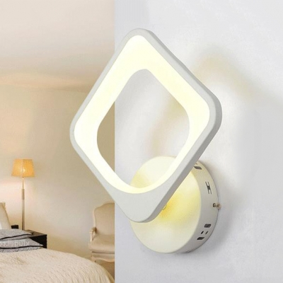 Nordic Mini Wall Mount Light Living Room Bedside Acrylic Led Wall Light Sconce In White Beautifulhalo Com