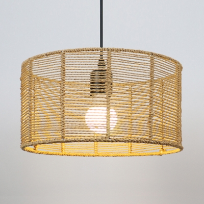 rattan drum chandelier 1 3 lights rustic lodge outdoor pendant lighting