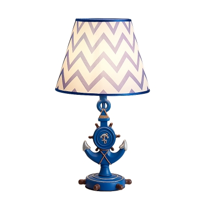 anchor table lamps coastal fabric and iron 1 light accent table lamp for kids room decor