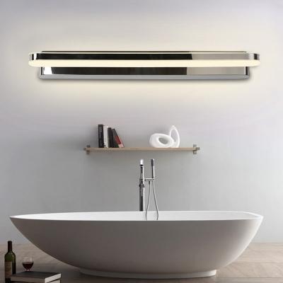 led bathroom vanity lighting ideas simple nickel wall mount lamp with bar metallic shade in warm white light