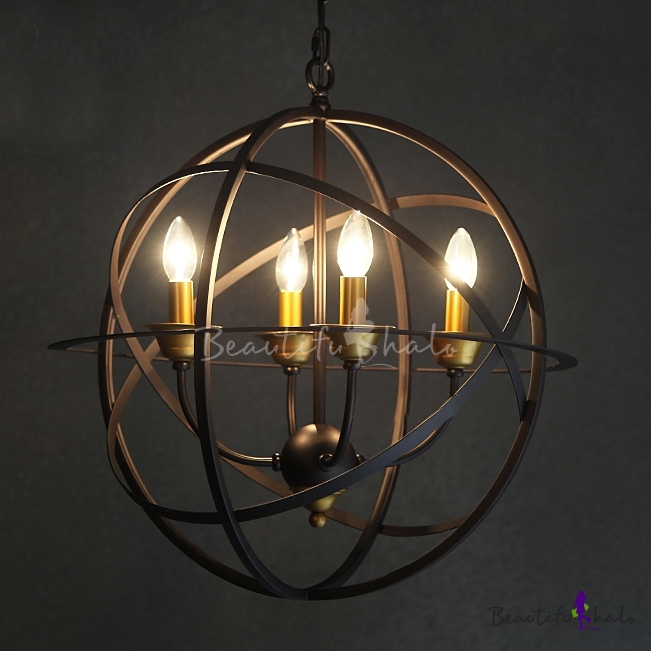Led Orb Chandelier In Candelabra Style Four Light Beautifulhalo