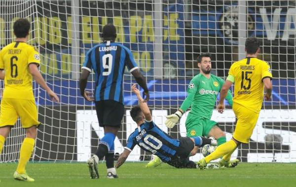 Martinez Leads Inter Past Borussia Dortmund, 2-0, In Huge Boost To Champions League Campaign