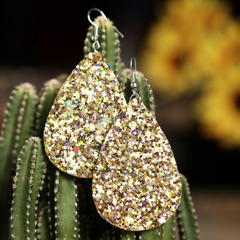 Water Drop Sequined Earrings