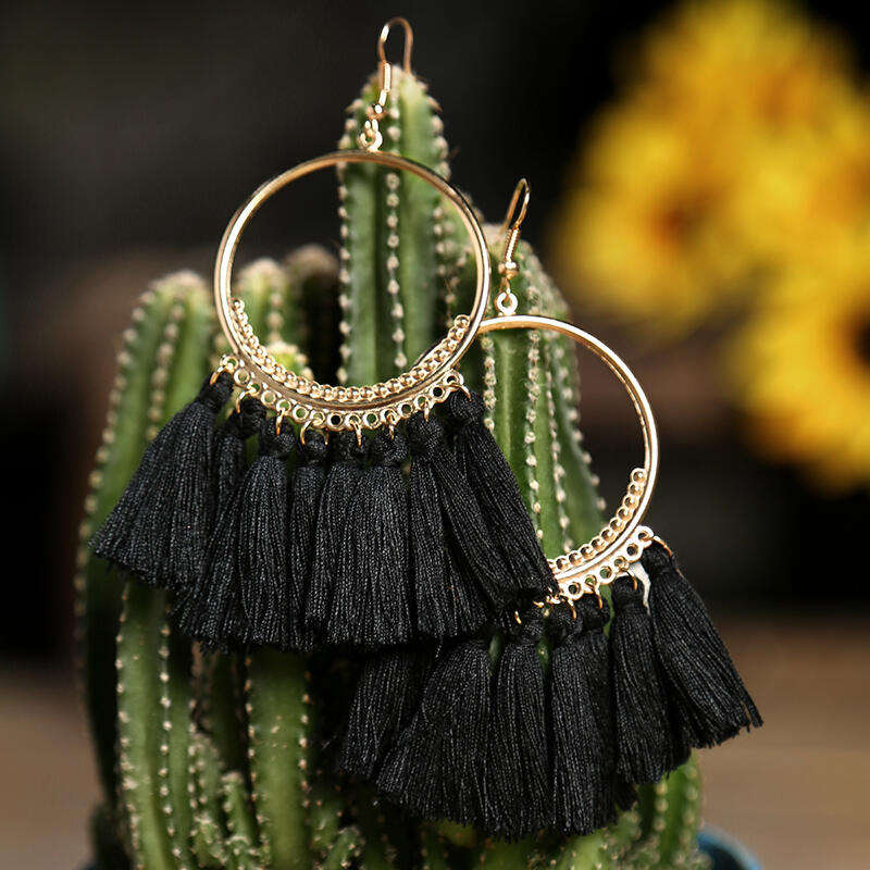 Bohemian Ethnic Tassel Earrings
