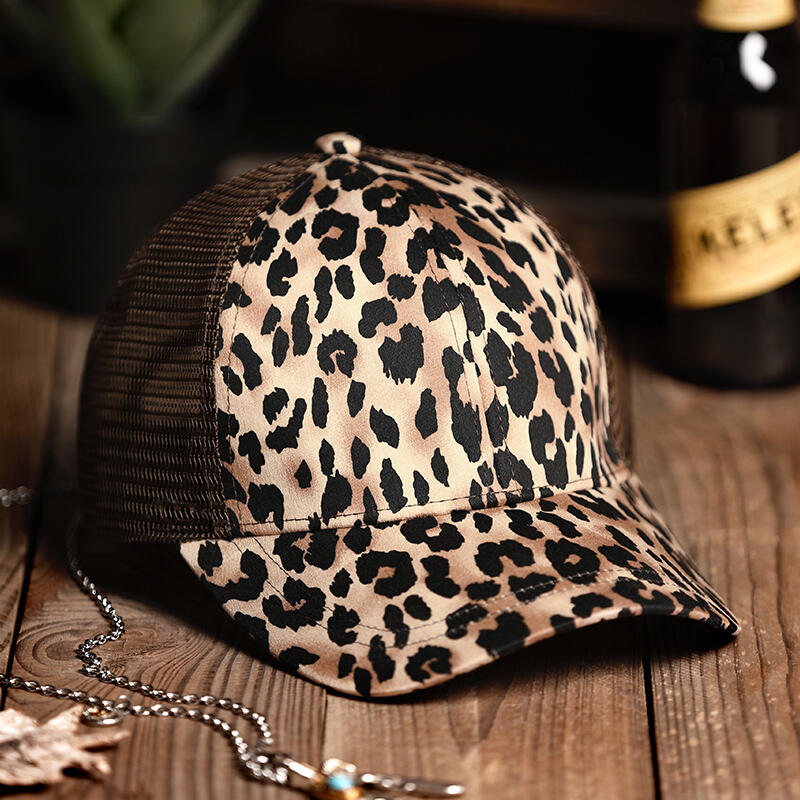 Leopard Printed Mesh Baseball Cap