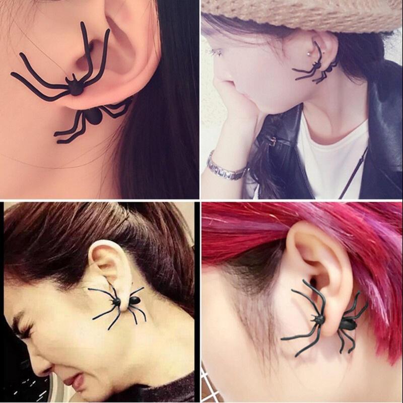 1 Piece Halloween Creepy Spider Stud Earring
