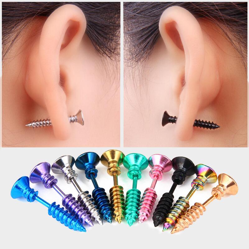 Halloween Solid Screw Stud Earrings