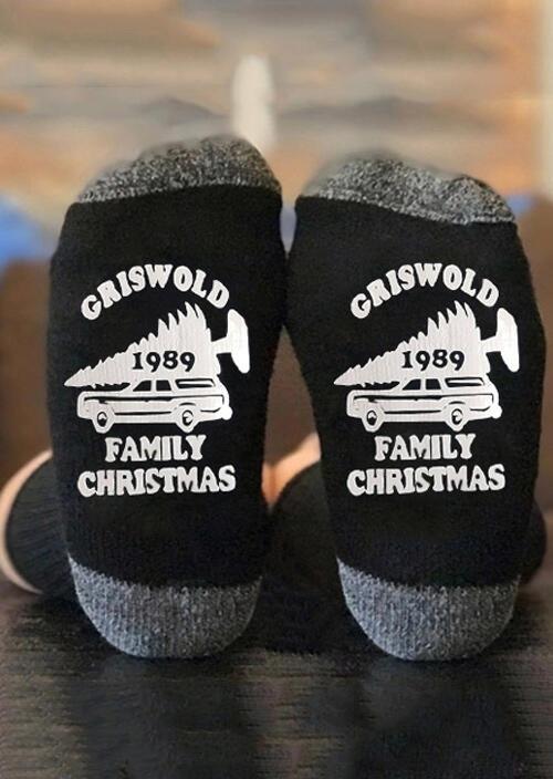 Griswold 1989 Family Christmas Socks