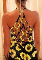 Sunflower Criss-Cross Open Back Camisole - Black
