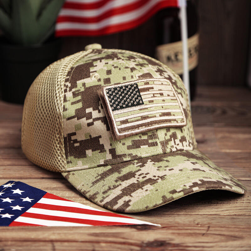 American Flag USA Camouflage Hollow Out Baseball Cap