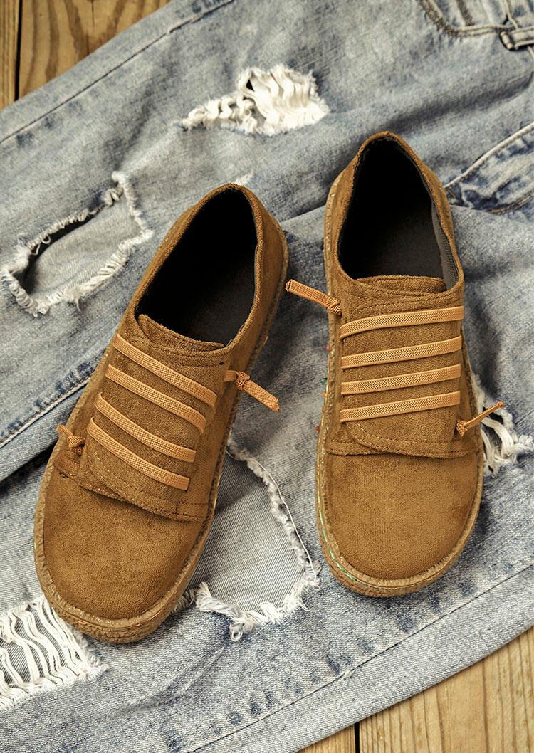 Vintage Slip On Round Toe Flat Sneakers