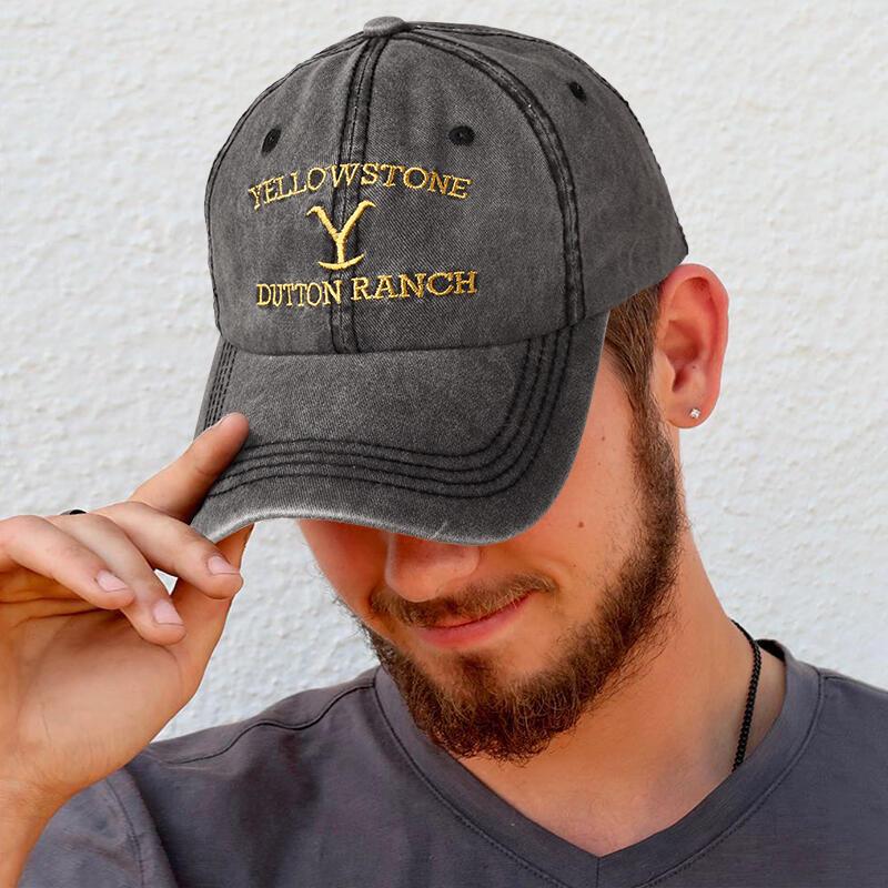 Yellowstone Washed Distressed Twill Baseball Cap