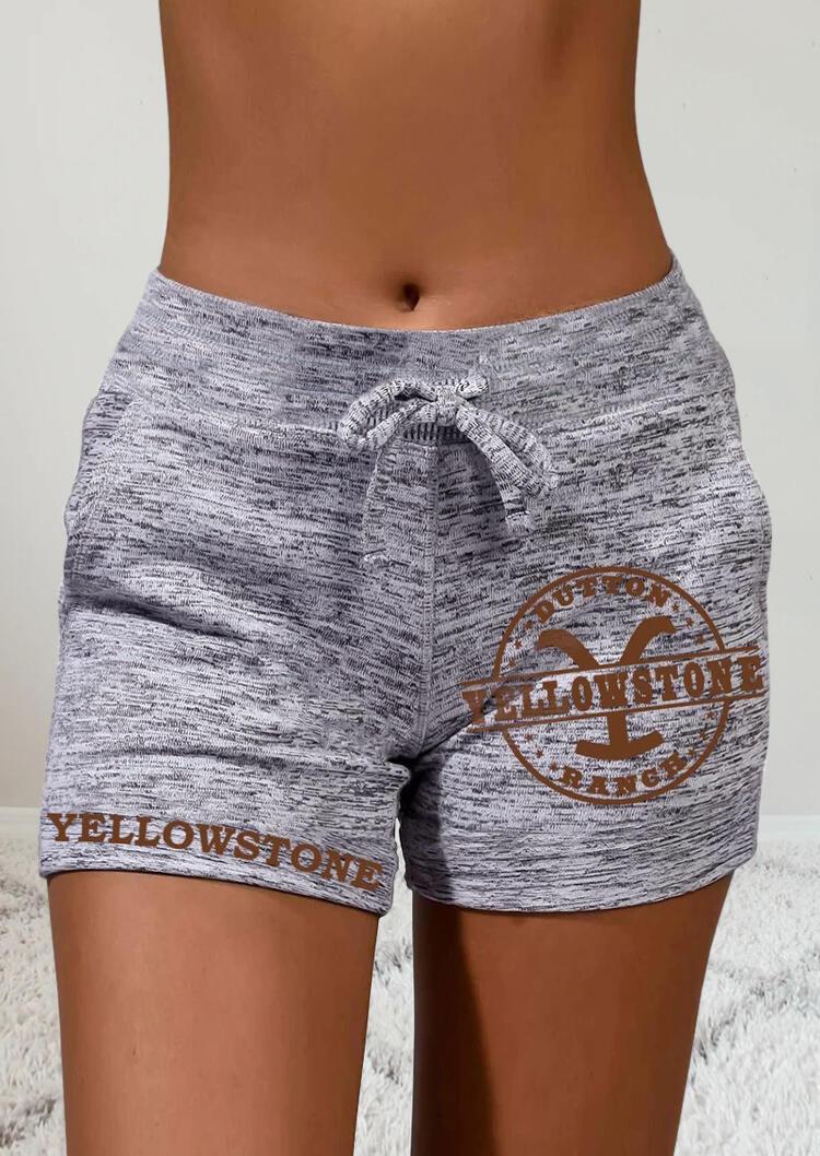 Yellowstone Drawstring Pocket Shorts - Gray