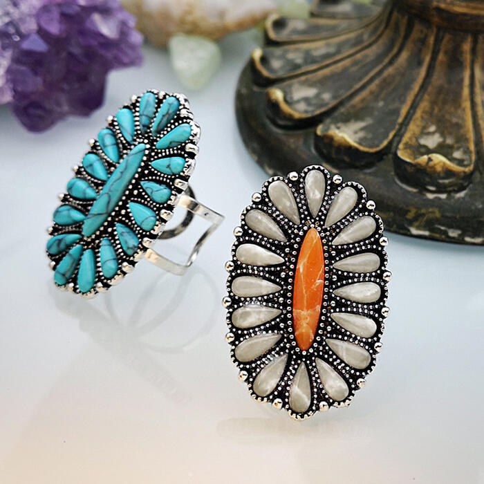 Vintage Bohemian Turquoise Ring
