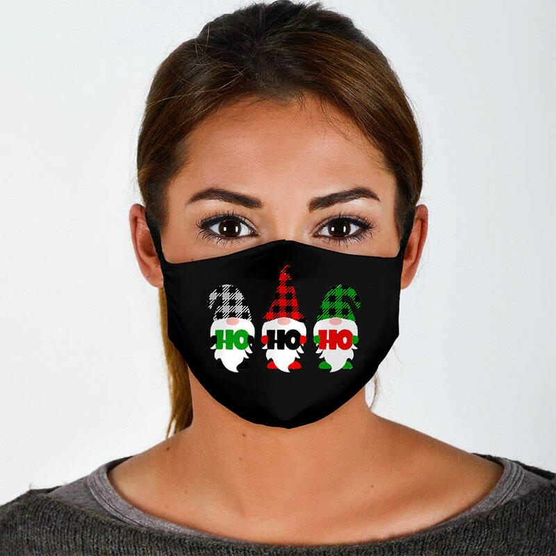Christmas Gnome Cartoon Reusable Windproof Mouth Shield