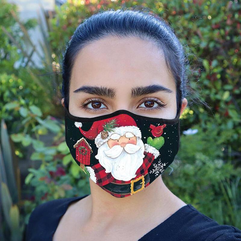 Christmas Santa Claus Snowman Anti-Dust Reusable Mouth Shield