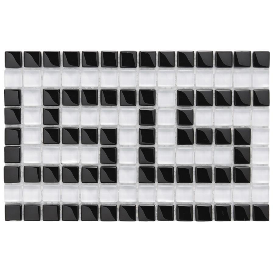 greek key glass border pool tile