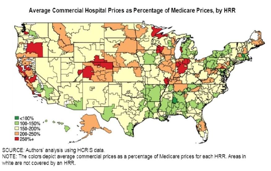 Карта цен Medicare