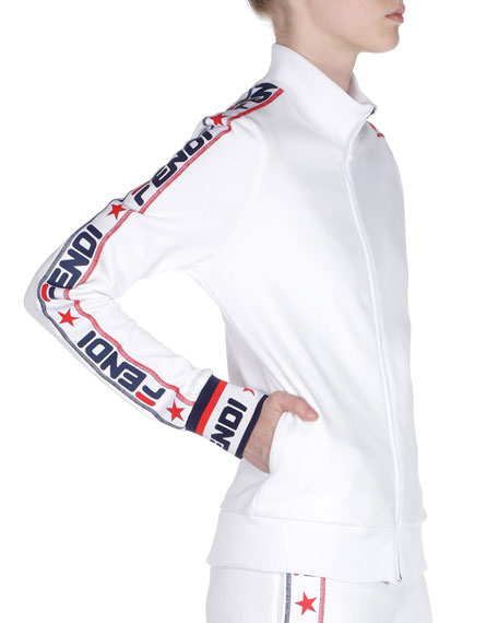 Fendi Mania Zip-Front Track Jacket $890