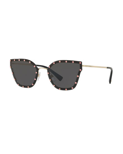 0aca7f89f8f20 Crystal Embellished Butterfly Sunglasses