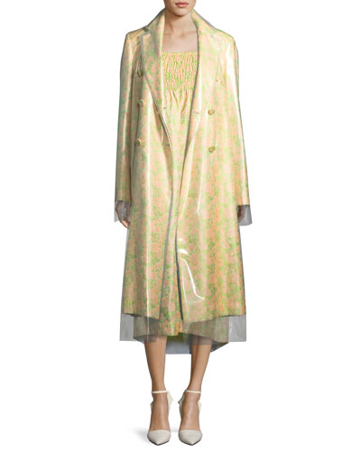 Floral Jacquard Double-Layer Coat and Matching Items