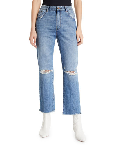 Jerry High-Rise Vintage Straight Ankle Jeans